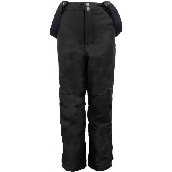 Černé dětské lyžařské kalhoty Alpine Pro