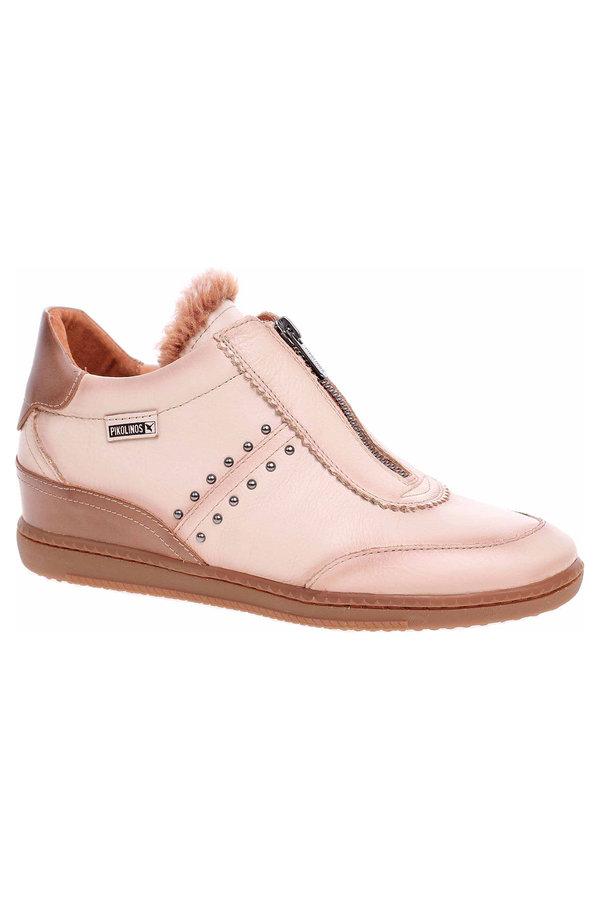 Růžové dámské kotníkové boty Pikolinos