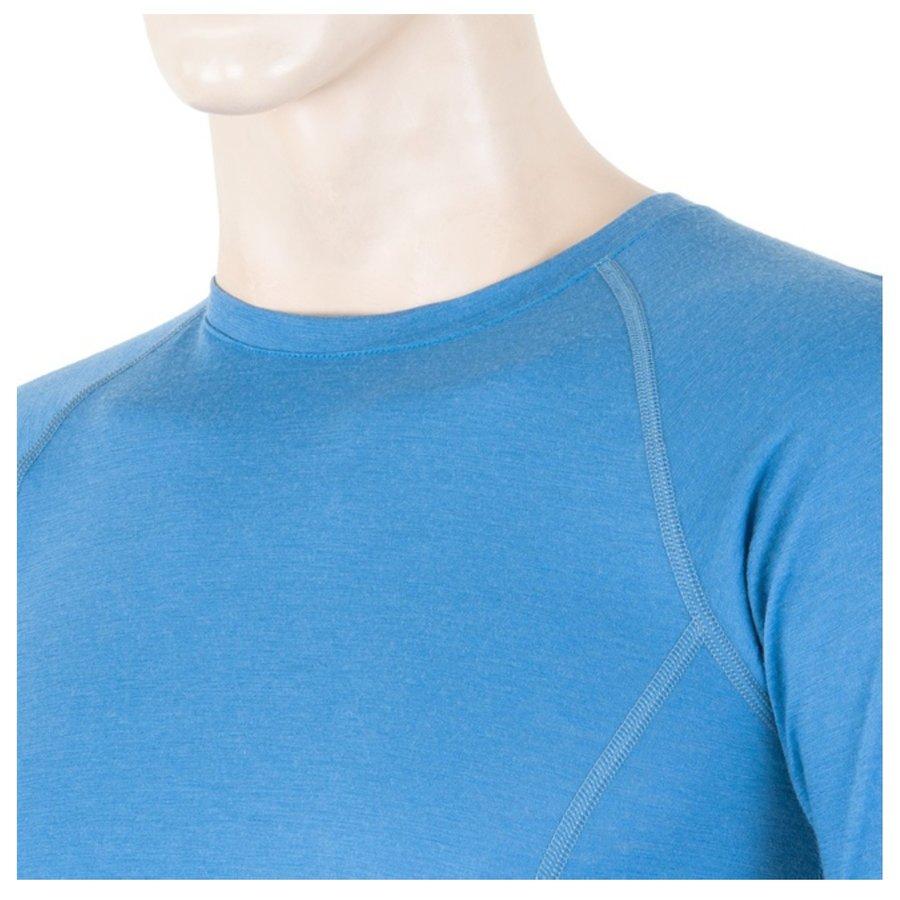 Modré pánské tričko s dlouhým rukávem Sensor - velikost XXL