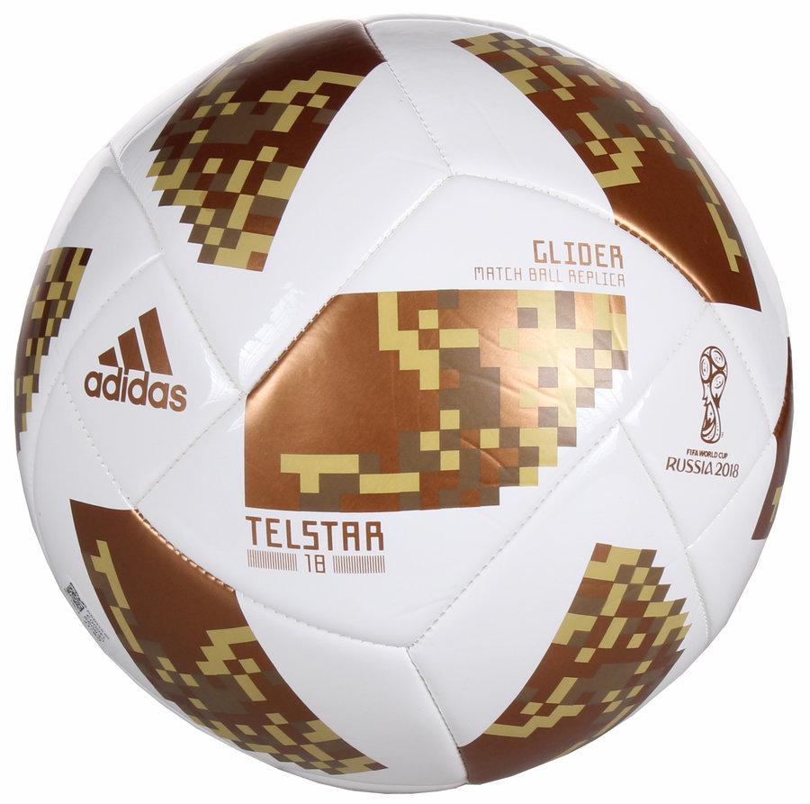 Bílý fotbalový míč World Cup 2018 Glider, Adidas - velikost 5