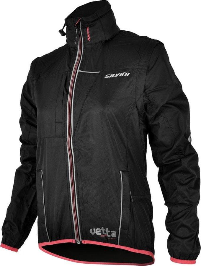Černá dámská cyklistická bunda Silvini - velikost XS
