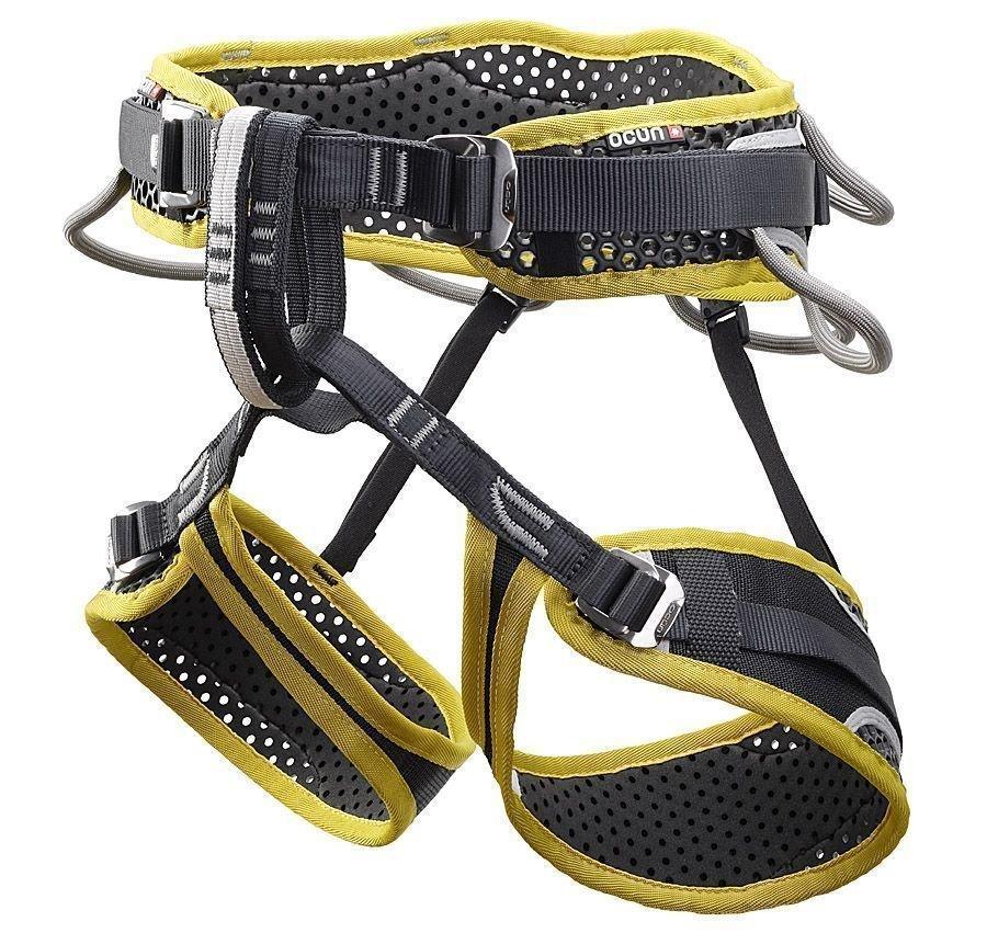 Černo-žlutý unisex horolezecký úvazek WeBee Quattro, Ocún