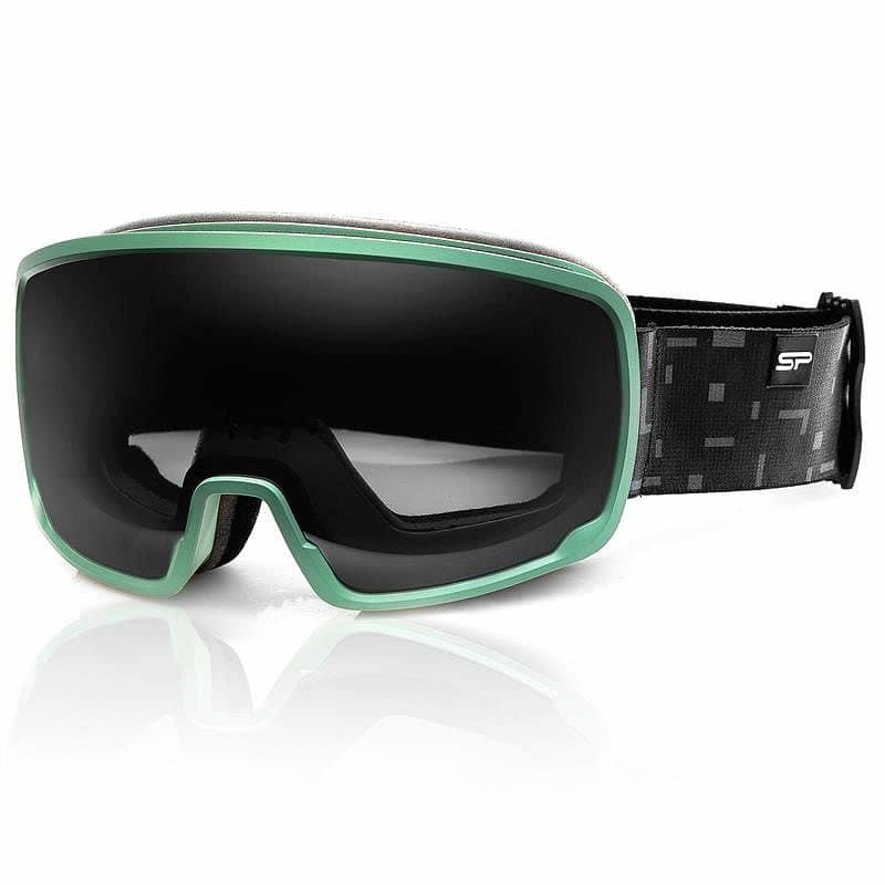 Šedo-zelené lyžařské brýle Spokey
