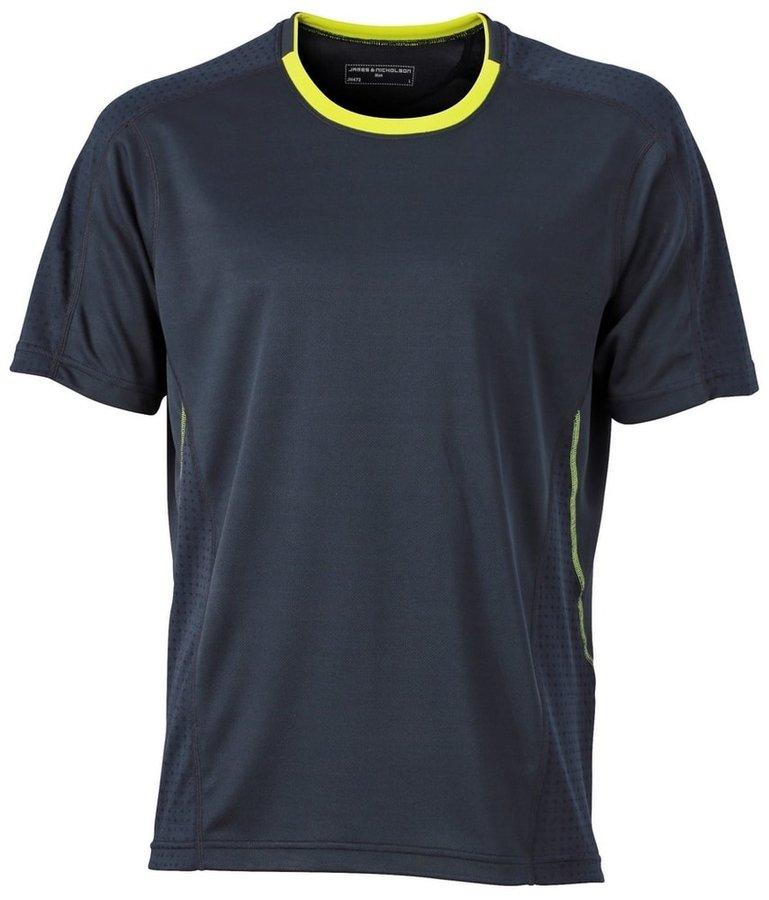 Šedé pánské tričko s krátkým rukávem James & Nicholson - velikost M