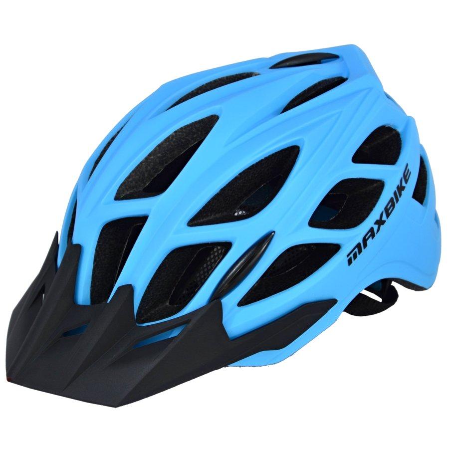 Modrá cyklistická helma Maxbike