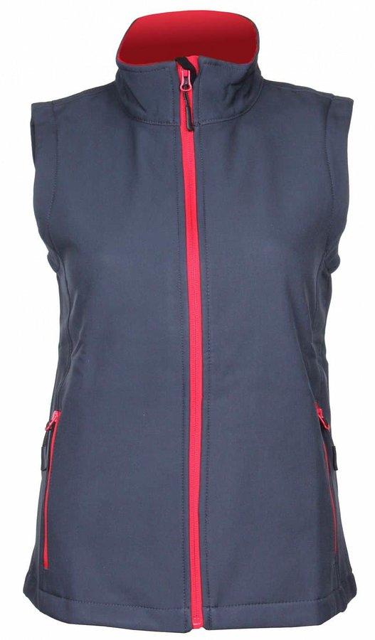 Šedá softshellová dámská vesta James & Nicholson