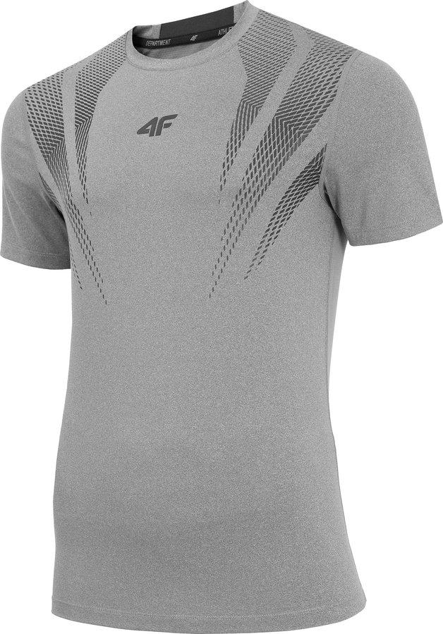 Šedé pánské funkční tričko s krátkým rukávem 4F - velikost XXL