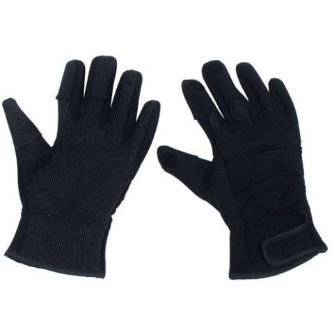 Černé neoprenové rukavice COMBAT, MFH int. comp