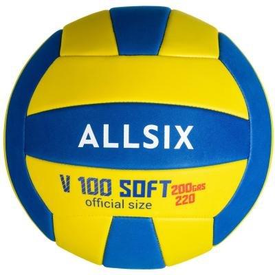 Volejbalový míč - Allsix Míč V100 Soft 200 Modro-Žlutý