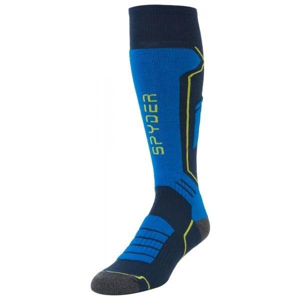 Modré pánské lyžařské ponožky Spyder - velikost M