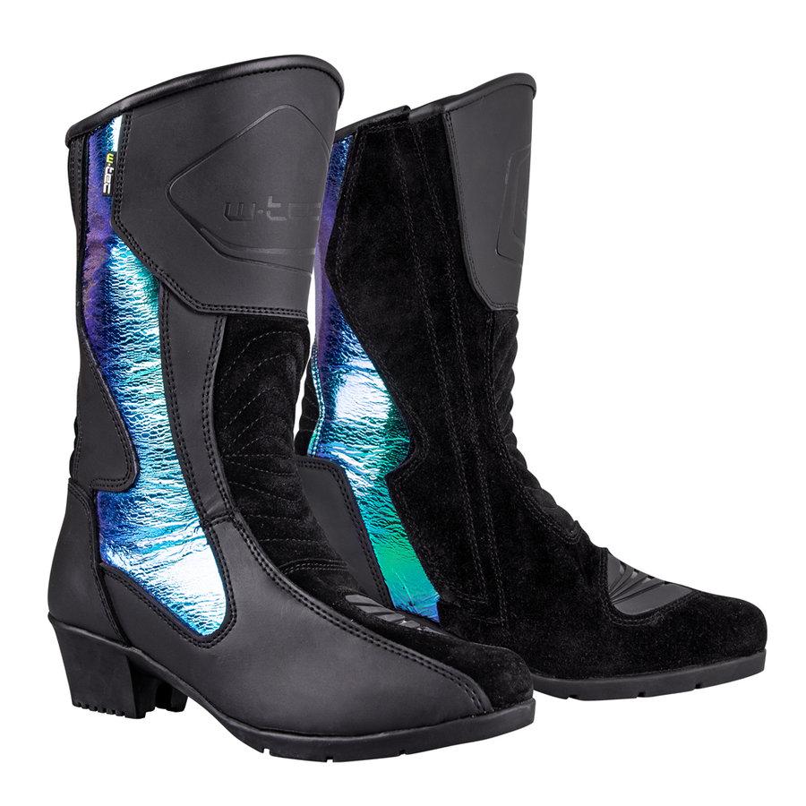 Černé vysoké dámské motorkářské boty Sceneria, W-TEC - velikost 37 EU