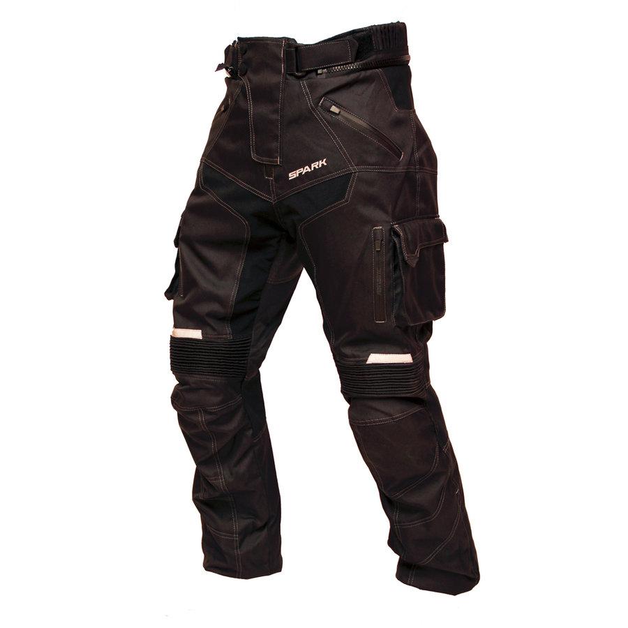 Černé pánské motorkářské kalhoty Pero, Spark