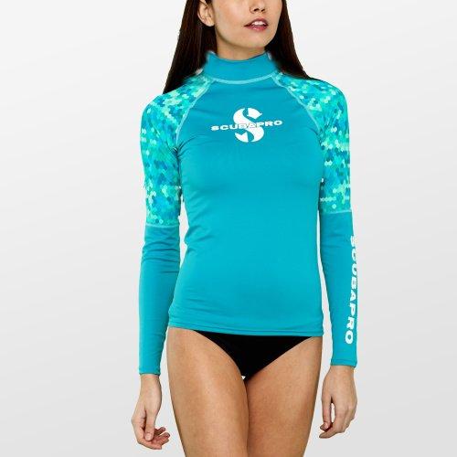 Modré dámské lycrové tričko Caribbean RG UPF 50, Scubapro