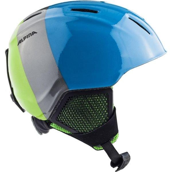Modrá dětská lyžařská helma Alpina - velikost 51-55 cm
