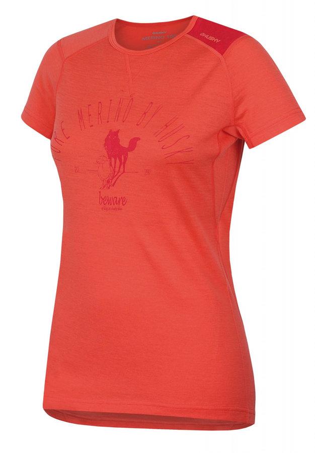 Oranžové dámské termo tričko s krátkým rukávem Husky