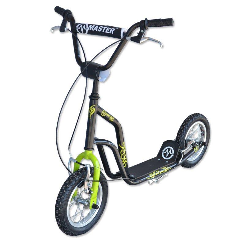 Černo-zelená dětská koloběžka Ride, Master - nosnost 80 kg