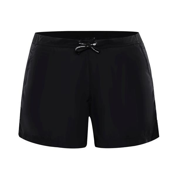 Černé sportovní pánské plavky Hinat, Alpine Pro, Černé sportovní pánské kraťasy Hinat, Alpine Pro