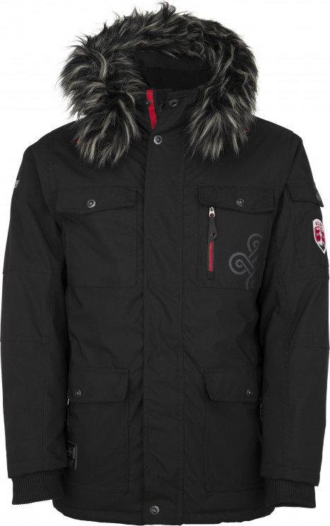 Černá zimní pánská bunda s kapucí Kilpi - velikost S