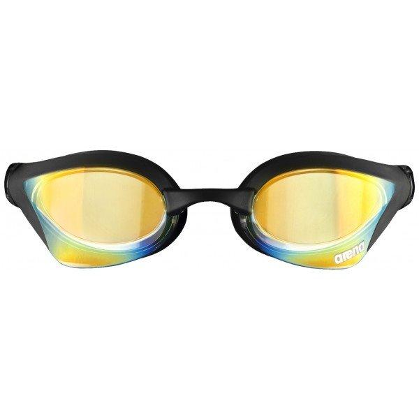 Černé závodní plavecké brýle Arena