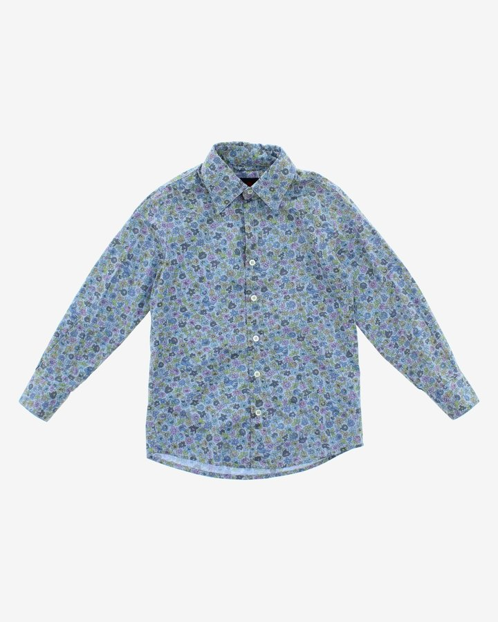 Modrá dívčí košile s dlouhým rukávem John Richmond - velikost 116
