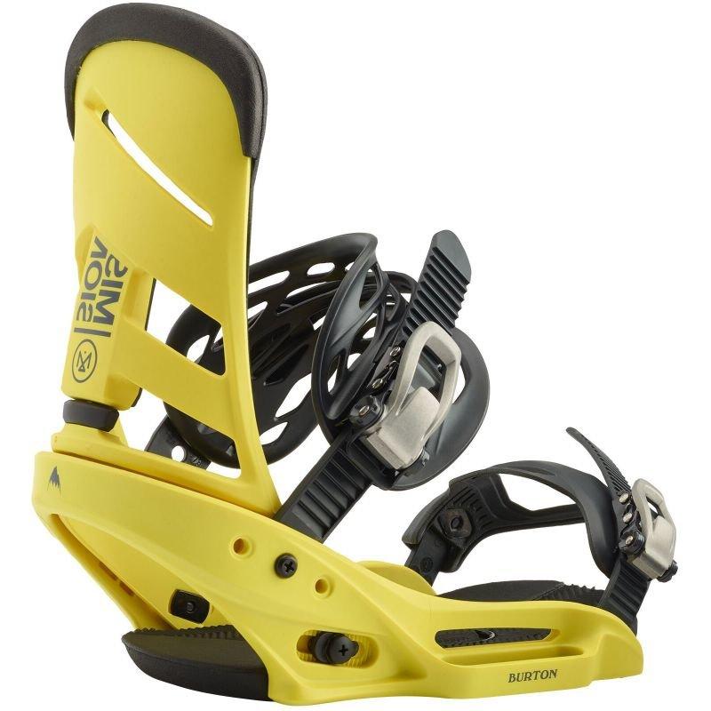 Žluté vázání na snowboard Burton - velikost L