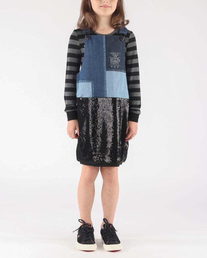 Černo-modré dívčí šaty Diesel