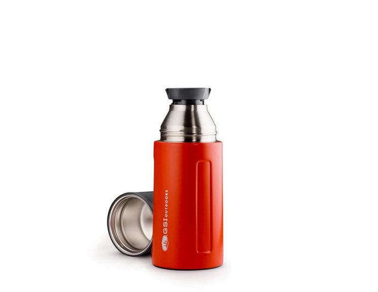 Červená termoska na pití GSI - objem 0,5 l
