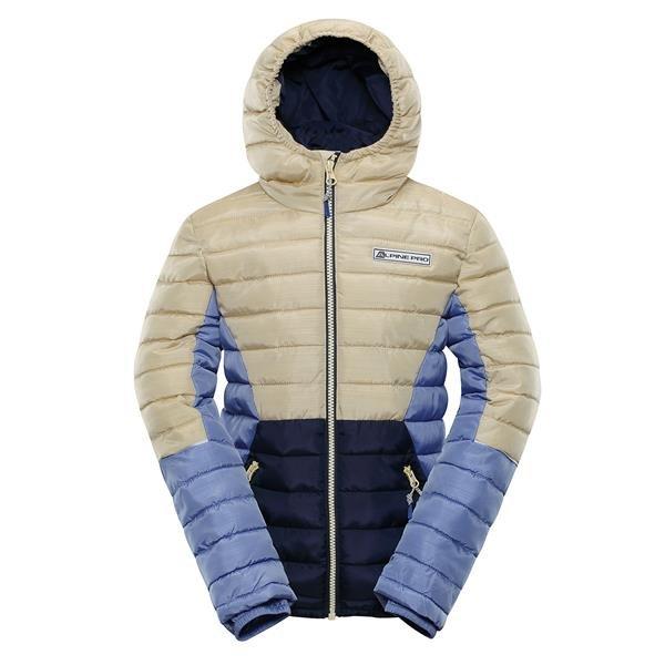 Modro-šedá dětská zimní bunda s kapucí Alpine Pro