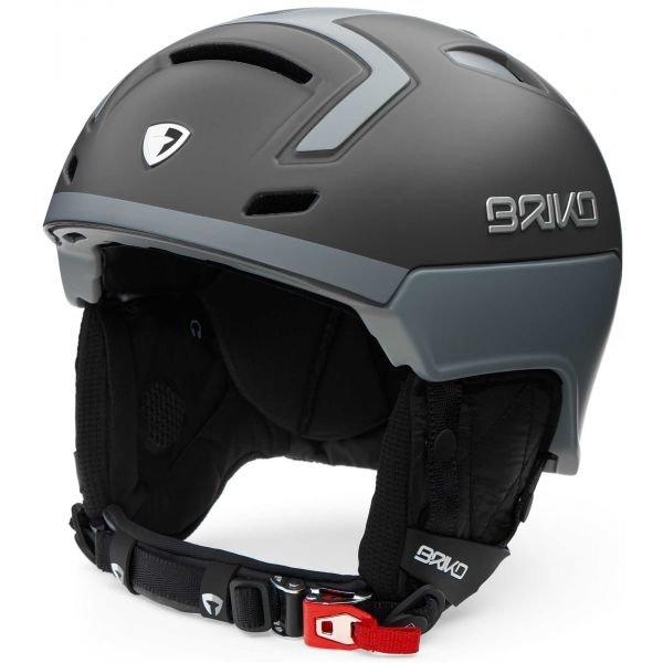 Šedá pánská lyžařská helma Briko