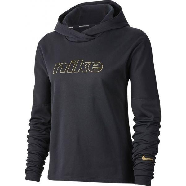 Černá dámská běžecká mikina s kapucí Nike - velikost M