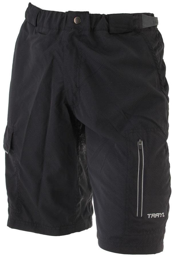 Černé pánské cyklistické kalhoty Axon - velikost XL