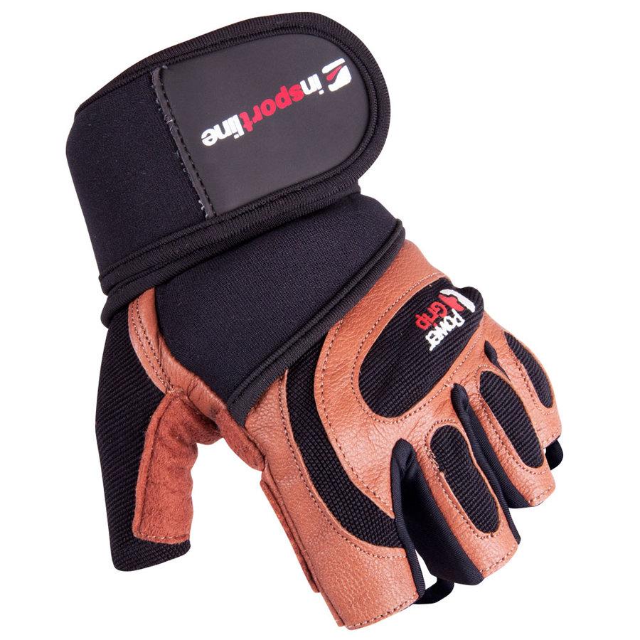 Černo-červené pánské fitness rukavice inSPORTline - velikost S
