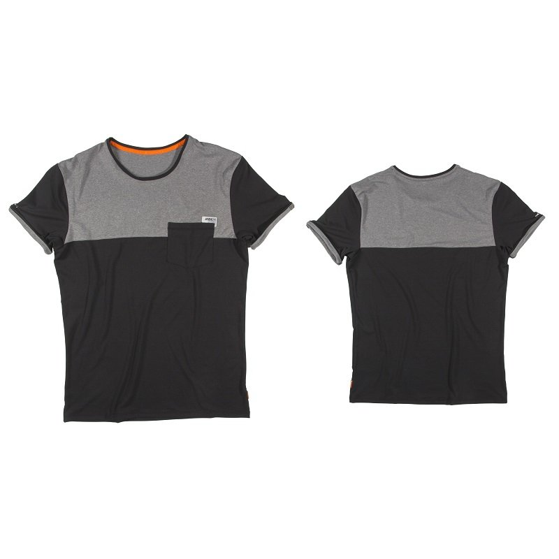 Černo-šedé pánské tričko s krátkým rukávem Jobe