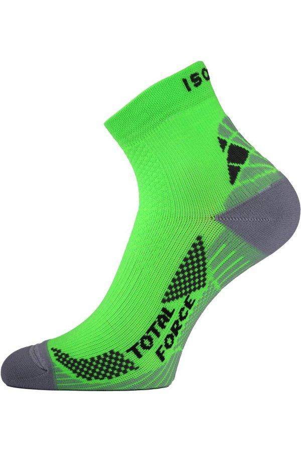 Zelené pánské běžecké ponožky Lasting