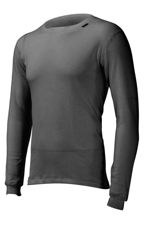 Šedé pánské funkční tričko s dlouhým rukávem Lasting
