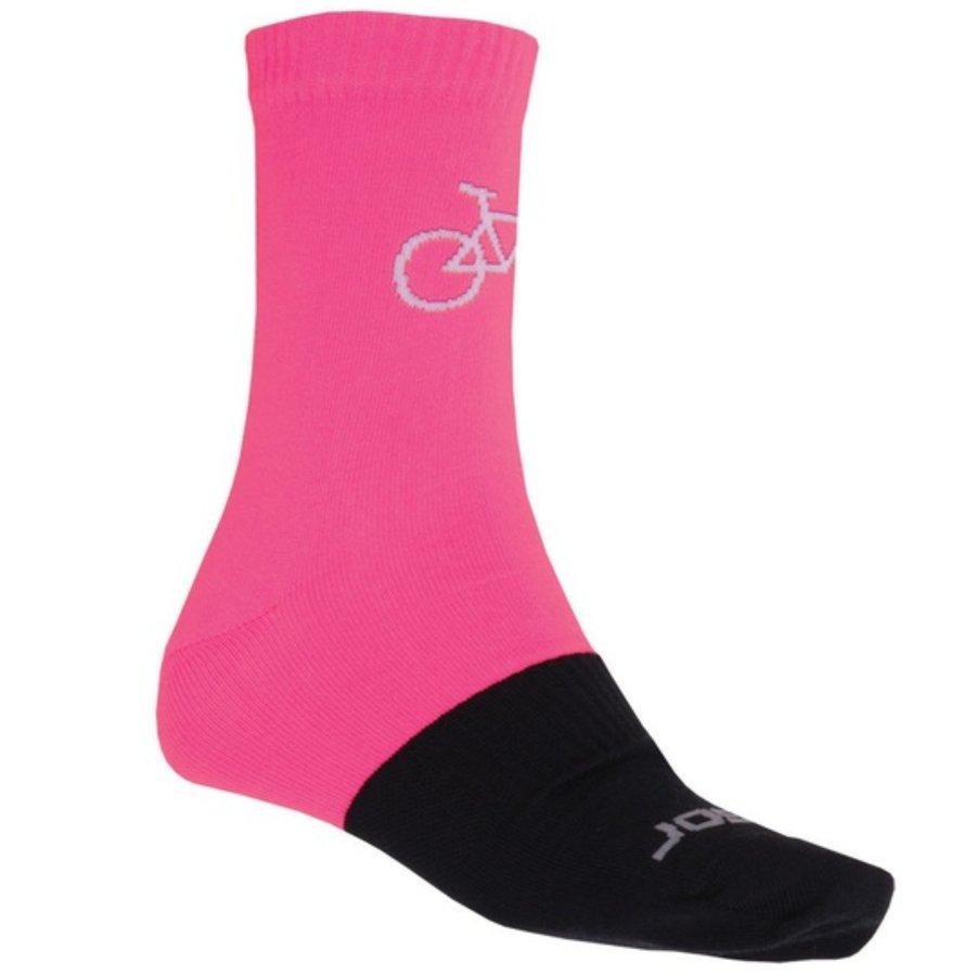 Černo-růžové dámské trekové ponožky Tour, Sensor - velikost 35-38 EU