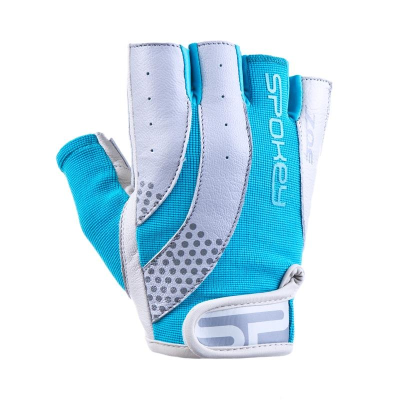 Bílo-tyrkysové dámské fitness rukavice Spokey - velikost L