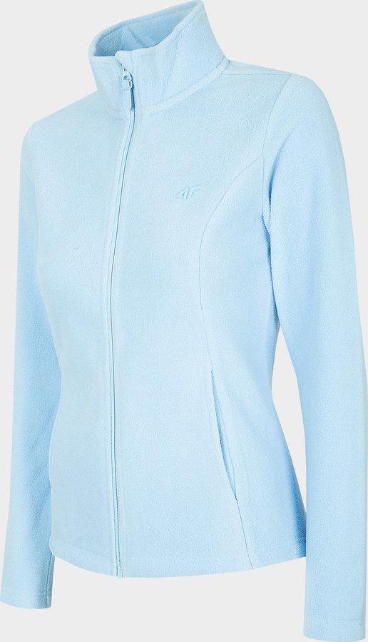 Modrá sportovní dámská mikina bez kapuce 4F