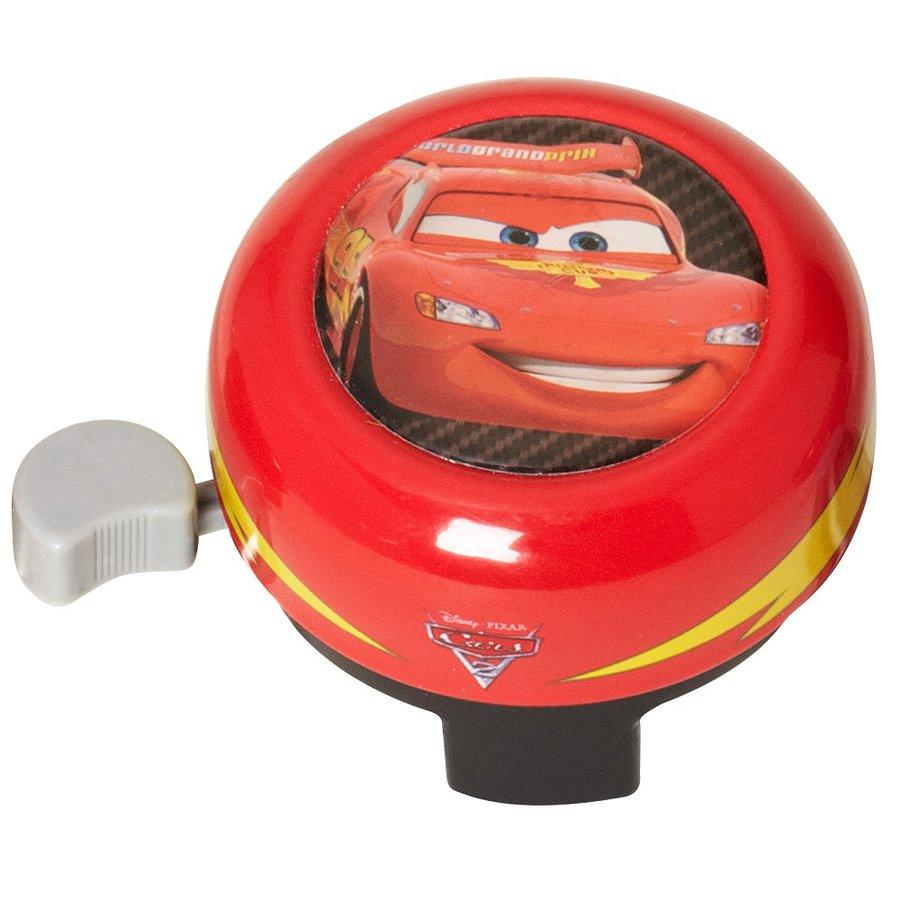 """Červený dětský zvonek na kolo """"Auta"""", Disney Brand"""
