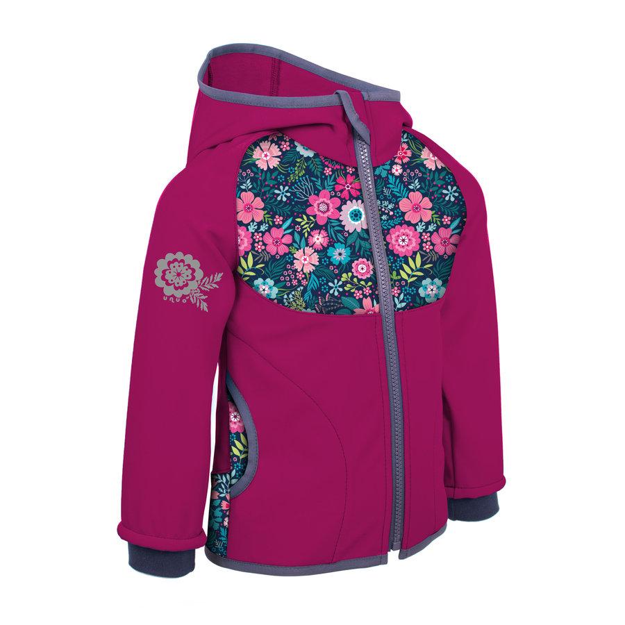 Růžová softshellová dívčí bunda Unuo - velikost 122