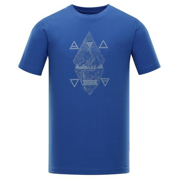 Modré pánské tričko s krátkým rukávem Alpine Pro - velikost XXL