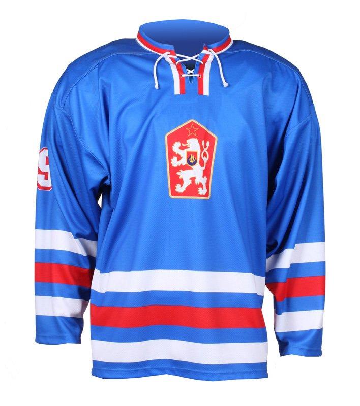 Modrý unisex hokejový dres Replika ČSSR 1976, Merco