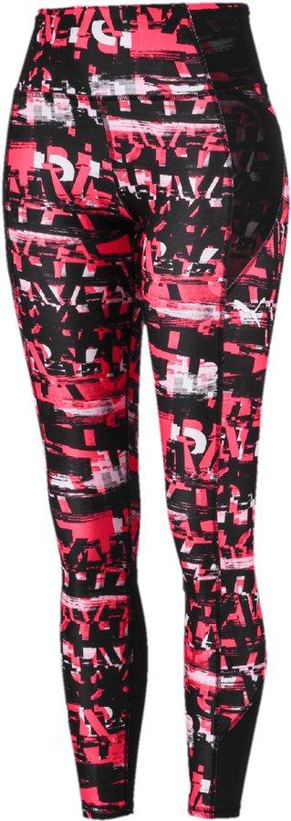 Černo-růžové dámské běžecké legíny Puma