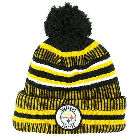 Černo-žlutá zimní čepice New Era