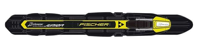 Černo-žluté vázání na běžky Fischer