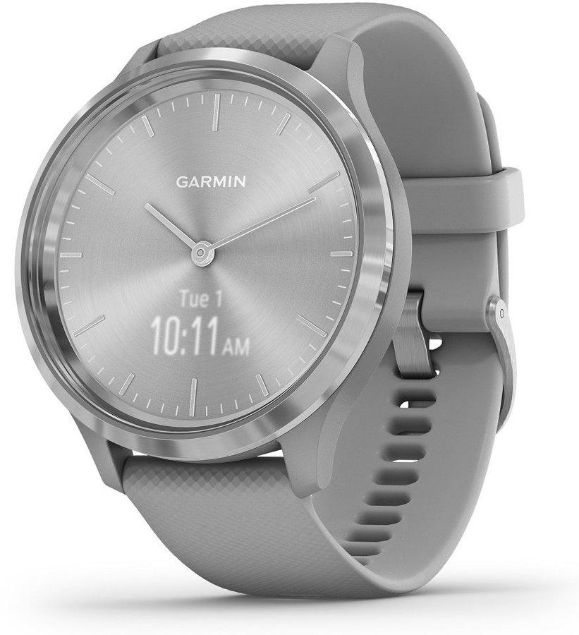 Šedé analogové chytré hodinky vivomove 3 Powder, Garmin