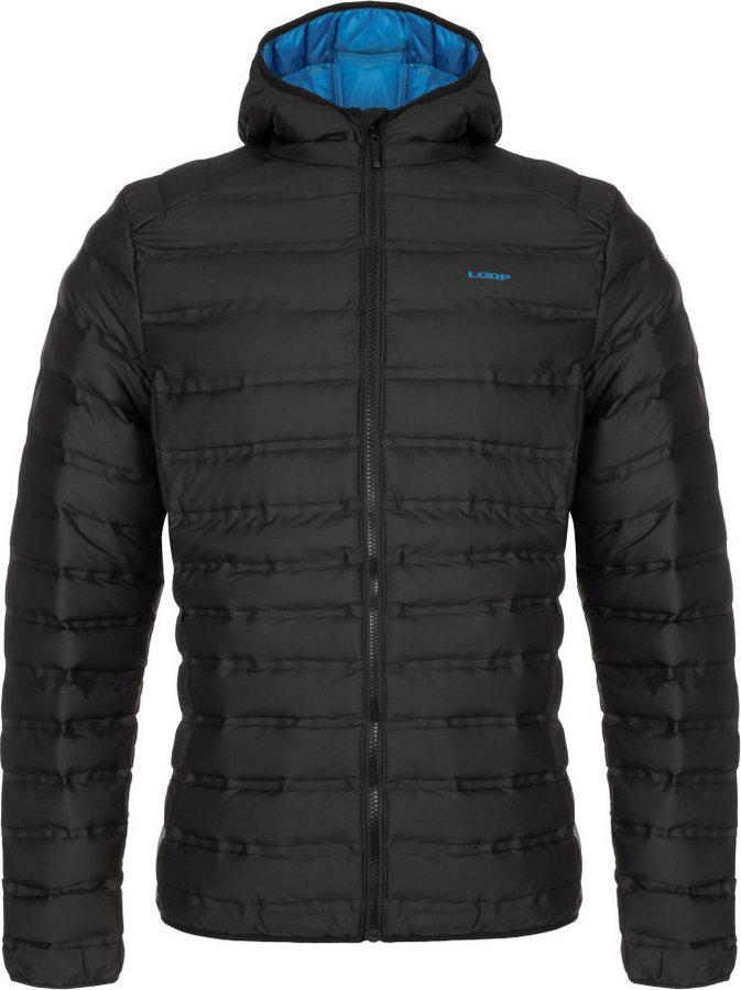 Černá zimní pánská bunda s kapucí Loap - velikost S