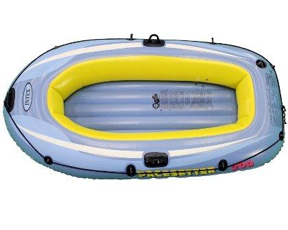 Šedý nafukovací člun s nafukovacím dnem pro 1 osobu + 1 dítě Pacesetter 200, INTEX