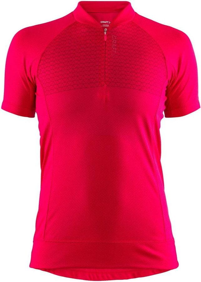 Růžový dámský cyklistický dres Craft - velikost S