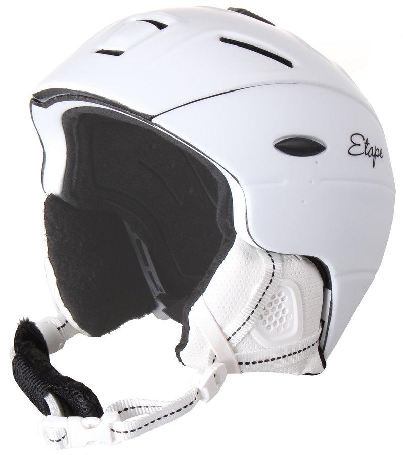 Bílá lyžařská helma Etape - velikost 55-58 cm